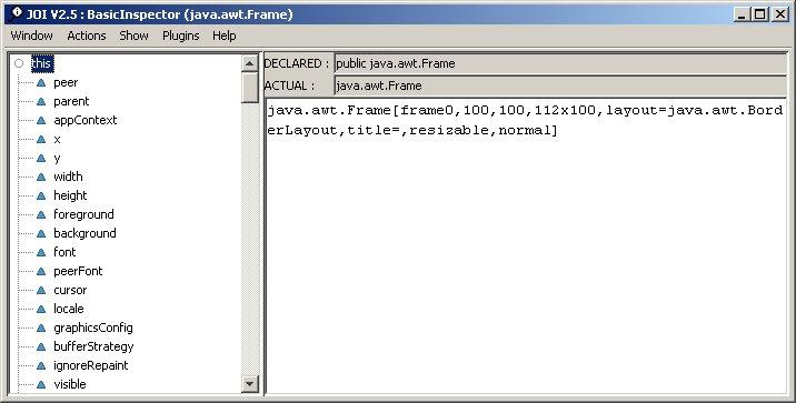 JOI - Java Object Inspector